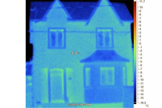 Дом с идеальным состоянием теплоизоляции. Практически нулевые потери.