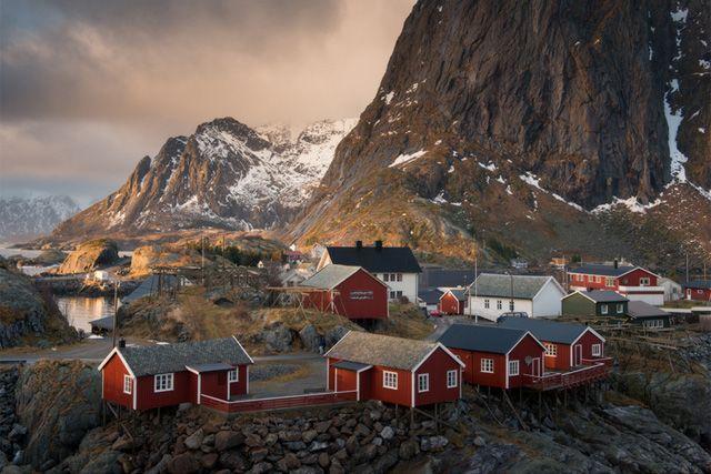Норвегия. Традиционный подход к выбору цвета краски.