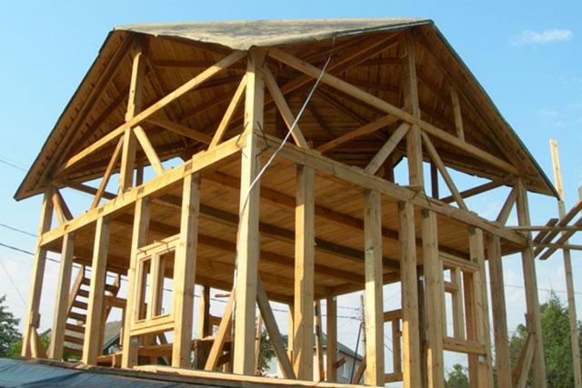Крыша Судейкина. Начальный этап строительства.