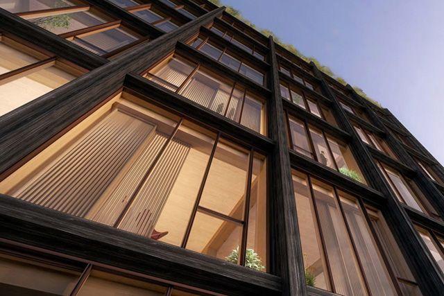 Не канадский проект, штатовский. Деревянный каркасник высотой 36 метров. «475 West 18th», Нью-Йорк.