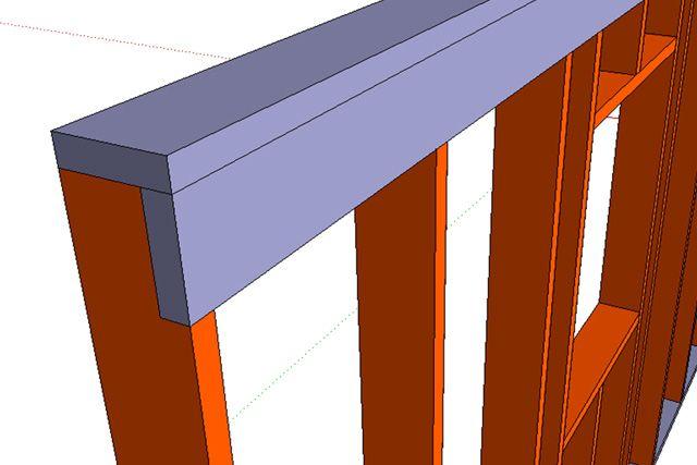 Финское решение равномерного распределения нагрузок на стойки — доска под верхней обвязкой установленная параллельно плоскости стен.