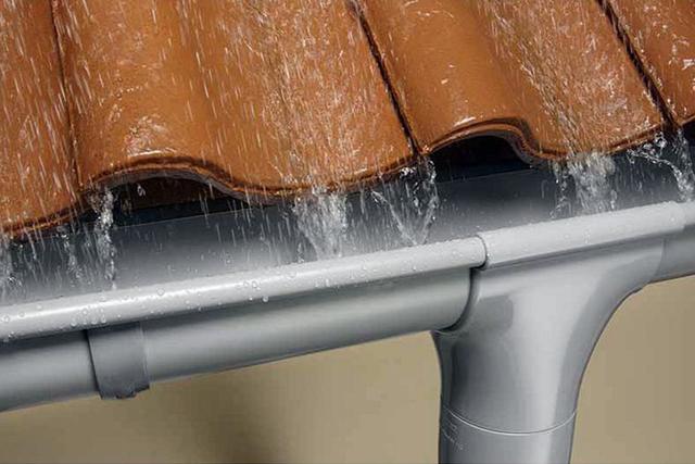 Работа водосточной системы