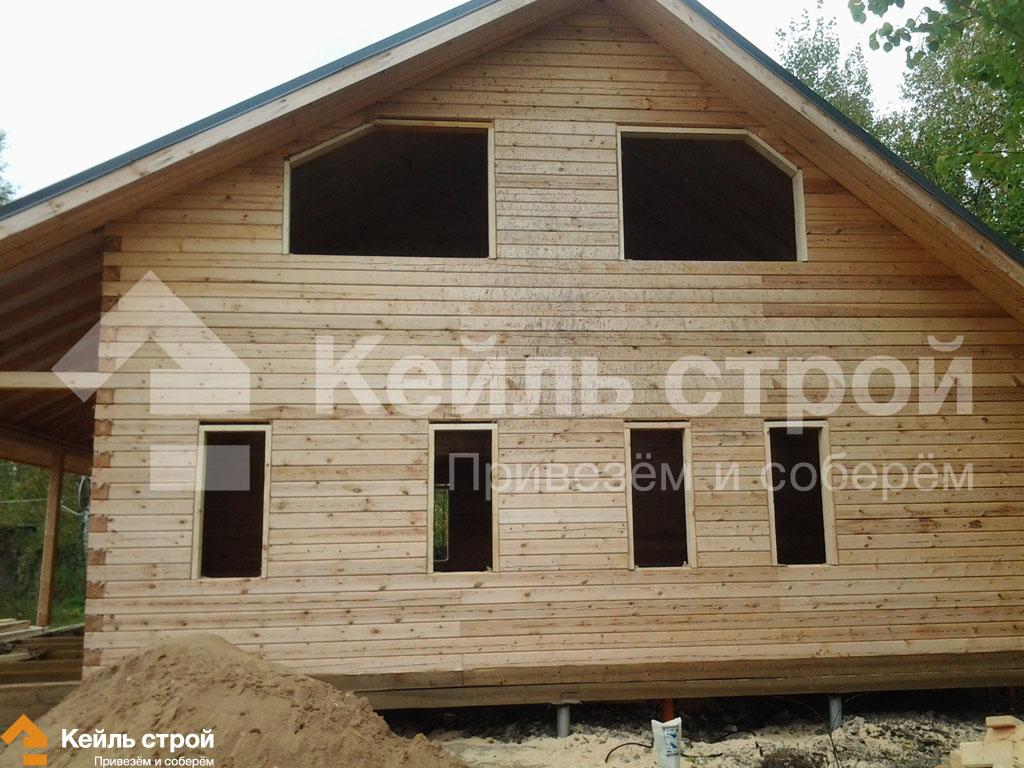 схема обсадка оконных проемов в деревянном доме